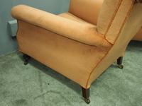 Pair of Victorian Mahogany & Peach Velvet Easy Chairs (13 of 15)