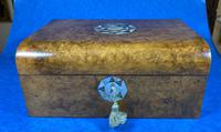 Victorian Walnut Jewellery Box with Inlay (13 of 15)