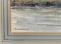 Caught One by R.Coleman 1971 A Trout Fishing Riverscape Watercolour Painting (12 of 13)
