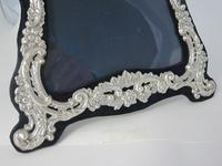 Large Decorative Shaped Rectangular Victorian Silver Photo Frame (3 of 6)