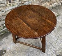 Antique Georgian Oak Cricket Table (6 of 15)