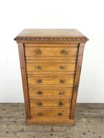 Large Victorian Oak Wellington Chest of Drawers by Shoolbred (2 of 13)