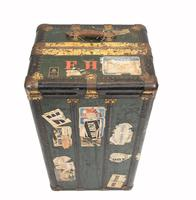 Vintage Steamer Trunk Luggage Case Harrison and  Co New York (2 of 28)