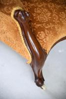 Antique Victorian Mahogany Armchair & Footstool (2 of 12)