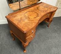 Stylish Burr Walnut Queen Anne Dressing Table (11 of 14)