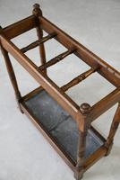 Early 20th Century Oak Stick Stand (7 of 12)