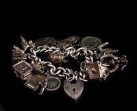 Vintage Sterling Silver Charm Bracelet, 1960s - Heavy (2 of 12)