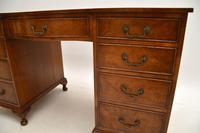 Burr Walnut Pedestal Desk c.1930 (9 of 10)