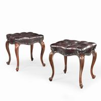 Pair of mid-Victorian Rosewood Stools (5 of 5)