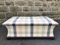 Mahogany Upholstered Sarcophagus Blanket Box