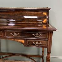 Spectacular Quality Victorian Rosewood Inlaid Antique Writing Desk (10 of 12)