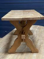 Rustic French Bleached Oak Coffee Table (15 of 20)
