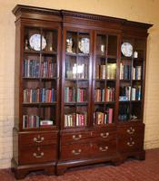 Four Doors Breakfront Bookcase In Mahogany - Early 19th Century (7 of 11)