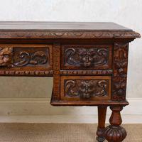 Oak Desk Green Man 19th Century (5 of 13)