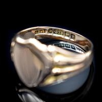 Antique Shield Signet 9ct 9K Yellow Gold Ring (6 of 10)