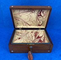 Victorian Rosewood Jewellery Box with Inlay (8 of 10)