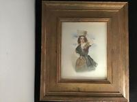 Victorian Watercolour of a Young Lady. (7 of 9)