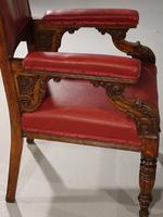 Finely Carved Late 19th Century Civic Armchair (5 of 8)