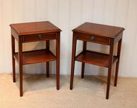 Pair of Edwardian Style Mahogany Tables (9 of 10)