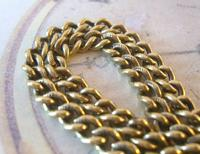 Antique Pocket Watch Chain 1890s Victorian large Brass Double Albert With T Bar (8 of 12)