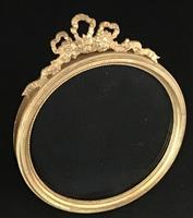 Victorian Gilt Brass  Circular Easel Photo Frame. (2 of 4)
