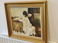 Franco Matania Nude - Italian / British Oil on Canvas (3 of 8)