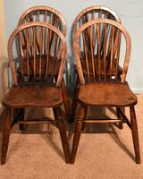Victorian Ash & Elm Kitchen Dining Chairs (4 of 6)