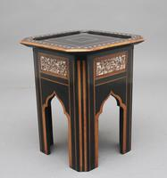 19th Century ebony and inlaid occasional table (6 of 9)