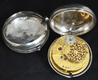 Superb Antique Silver Pair Case Pocket Watch Fusee Verge Escapement Key Wind Enamel Dial Johnson London (4 of 8)