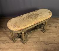 French Giltwood Tapestry Upholstered Window Seat (4 of 10)