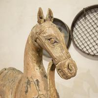 Large 19th Century Carved Indian Horse - Original Paint (12 of 14)