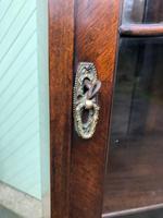 Antique Slim Figured Walnut Bookcase (3 of 12)