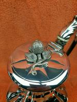 Antique Pumpkin Shaped Silver Plated Coffee Water Tea Pot c.1830 (4 of 13)