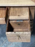 French Bleached Oak Writing Desk (11 of 21)