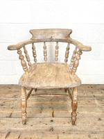 Pair of Antique Smoker's Bow Chairs (5 of 10)