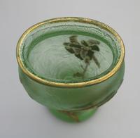 Montjoye Legras - Good & Large French Art Glass Etched Gilt Vase c.1890 (4 of 7)