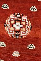 Antique Tibetan small carpet 229x121cm (5 of 6)