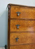 Quality Burr Walnut Chest of Drawers (5 of 7)
