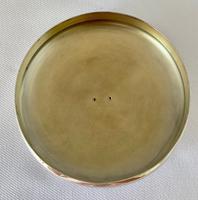 Stunning Blue Guilloche Enamel on Silver Glass Jar c.1930 (5 of 7)