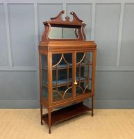 Inlaid Mahogany Edwardian Display Cabinet (6 of 12)