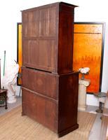 Tall Antique Secretaire Bureau Bookcase Astragal Glazed Mahogany Library Cabinet (13 of 13)