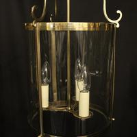 French Set of 3 Convex Antique Hall Lanterns (2 of 10)
