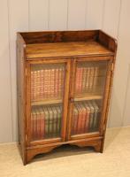 Small Proportioned Oak Glazed Bookcase (3 of 11)
