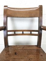 Antique 19th Century Welsh Oak Farmhouse Chair (5 of 10)