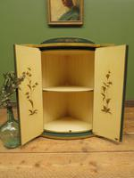 Vintage 1950s Chinese Painted Corner Cabinet, Racing Green (11 of 16)