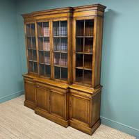 Super Quality Solid Oak Antique Library Bookcase (3 of 9)
