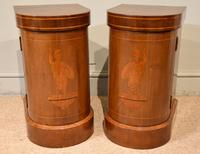 Edwardian Mahogany Bow-fronted Bedside Cabinets (4 of 9)