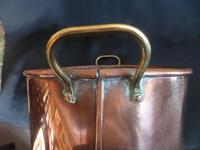 A Copper Planter 12 inches x 10.5inches  with Brass Handles. 1920's (4 of 5)