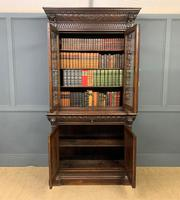 Imposing Carved Oak Bookcase (5 of 23)