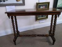 Victorian Burr Walnut Side Table with Bobbin Turned Legs (2 of 4)